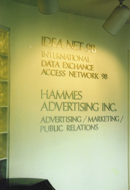 The entrance way to the original home of Hammes Advertising, Inc. at 896 Dixie Highway in Coral Gables, FL. Corporate Home designed and built by Terry Hammes in 1986, Hammes Advertising, Inc. was founded in 1978. Copyright 2006 Hammes Advertising.com