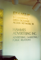 Click to view full sized image.  The entrance way to the original home of Hammes Advertising, Inc. at 896 Dixie Highway in Coral Gables, FL. Corporate Home designed and built by Terry Hammes in 1986, Hammes Advertising, Inc. was founded in 1978. Copyright 2007 Hammes Advertising.com